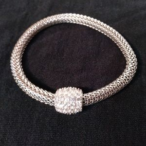 Jewelry - Diamond silver stretch bracelet
